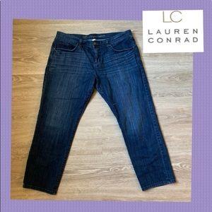 Lauren Conrad Dark wash Cropped boyfriend jeans 12